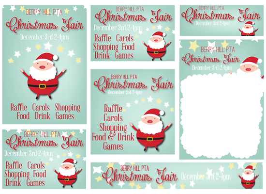 Christmas Fair PTA Template Poster Kit