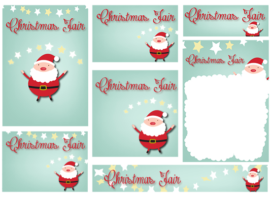 PTA Christmas Fair Template Kit