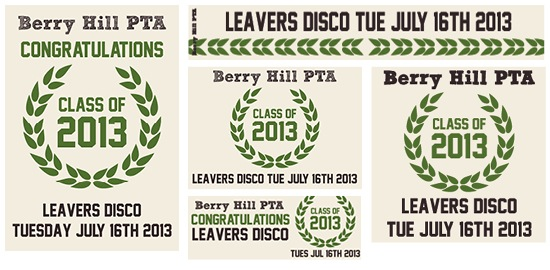 PTA Poster Leavers Disco 2013